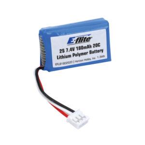 EFLITE 180MAH 2S 7.4V 20C LIPO
