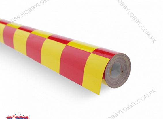 EMAX COVERING GRILL-WORK RED AND YELLOW PER METER
