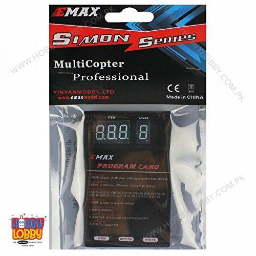 EMAX ESC PROGRAMME CARD SIMON 4IN1