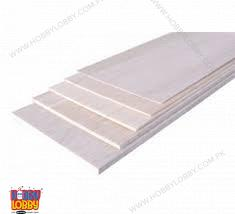 "BALSA SHEET 1000X100X 1.5MM (1/16"")"